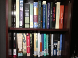 """Sometimes, I don't even have room for all the books I want to read on my """"to read"""" shelves."""