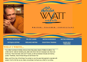 My website, WordsMatterESW.com, includes some examples of my writing, including links to several stories that have been published online.